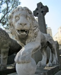 A Lion Protects at Montparnasse Cemetery, Paris